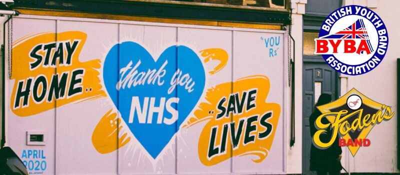 "A nessage saying ""Stay home, Save lives.Thank you NHS"""