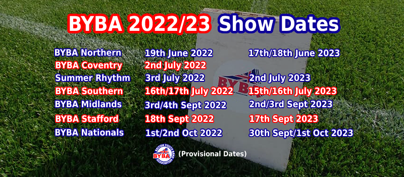 BYBA 2022/2023 Show Dates
